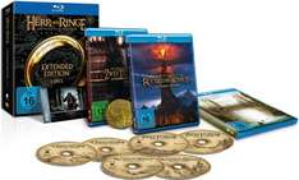 """(Amazon.de WHD)Der Herr der Ringe - Die Spielfilm Trilogie (Extended Edition) und Sammlermünze (exklusiv bei Amazon.de) [Blu-ray] [Limited Edition] für 29,44 Zustand """"Sehr Gut"""""""