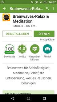 Brainwaves Relax & Meditation, App of the Day, umsonst im App Store statt 62,67 Euro