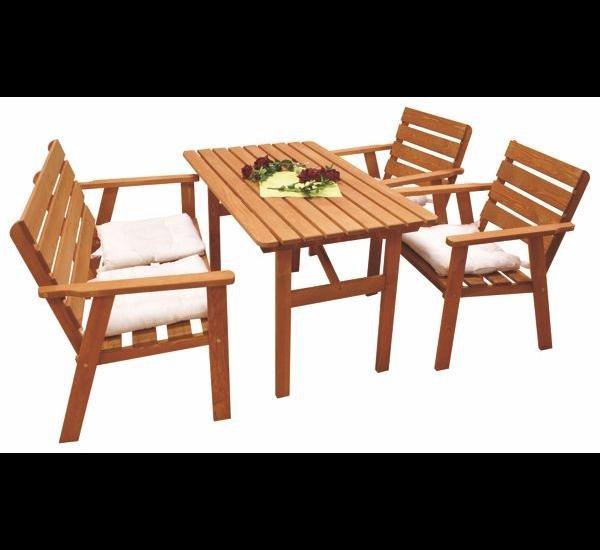 Kynast Sitzgruppe, 4-tlg. Tisch + Bank + 2 Stühle für 119,95€ inkl. Lieferung