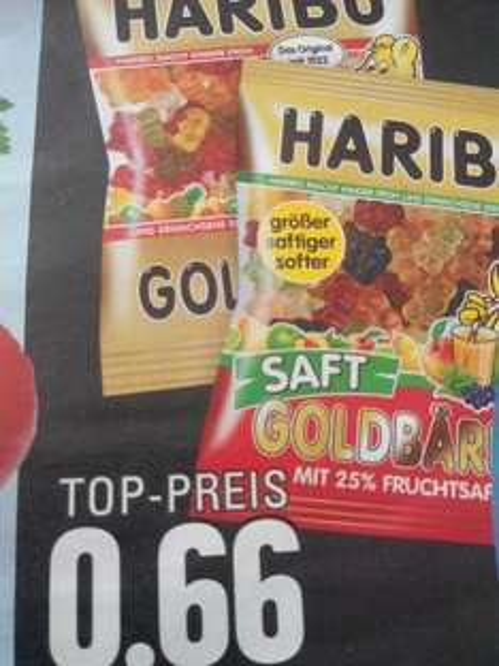 ( Edeka Rhein/ Ruhr ) Haribo Fruchtgummi verschiedene Sorten oder Lakritz 0,66€