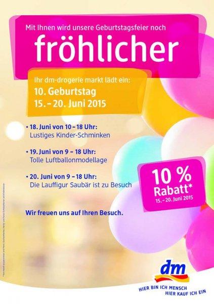 [LOKAL Stuttgart] dm-drogerie markt in der Schwabstraße 93: 10% auf (fast) alles vom 15.-20.06.2015