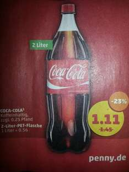 Coca-Cola 2 Liter Flasche 1.11 € @ Penny
