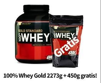 Optimum Nutrition 100% Whey Gold 2,27 KG + 450G GRATIS inkl. VSK für €42,81 @vitafy