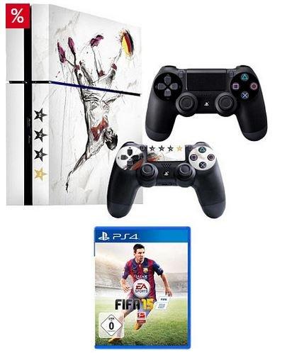 Playstation 4 2 Controller Fifa 15 und Desingfolie