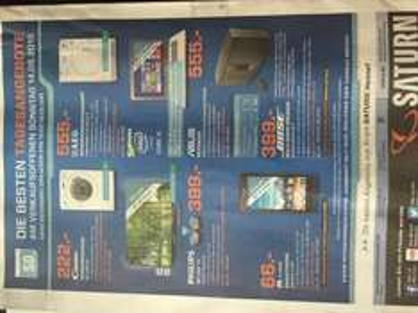 [lokal] Saturn Hennef: Tagesangebote zum verkaufsoffenen Sonntag 14.06.2015 von 13-18 Uhr: Huawei Y530 für 66€, Philips 48 PFK 6959 für 399€, Bose Soundtouch 30 für 399€, 8KG Waschmaschine für 222€, 8kg Wärmepumpentrockner für 555€ und Asus S301LA-C1