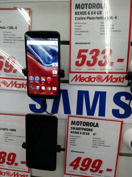 [LOKAL Berlin Alexa Mediamarkt] NEXUS 6, 64 gb 533 €, 32 gb 499, € Idealo: 611