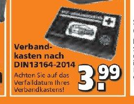 [Globus Baumarkt] KFZ-Verbandkasten für 3,99 €
