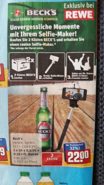 (Rewe) 2 Kästen Beck's + Selfie-Maker gratis