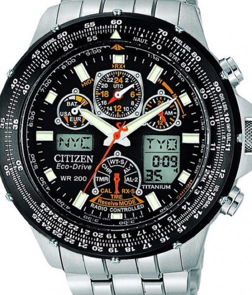 Herren Citizen Titanium Skyhawk AT Funk Eco Drive Uhren JY0010-50E