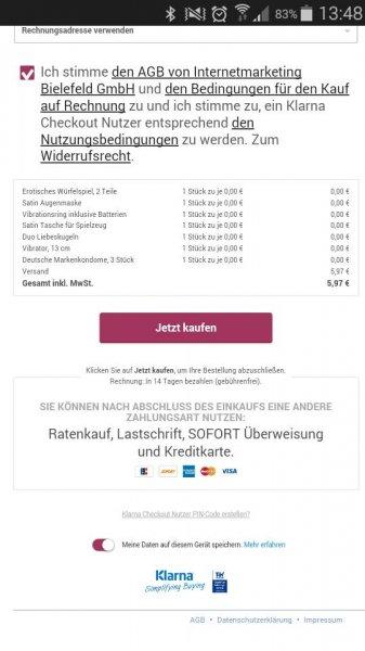 8 Artikel KOSTENLOS (+5,97 EUR Versandkosten) @Eis.de