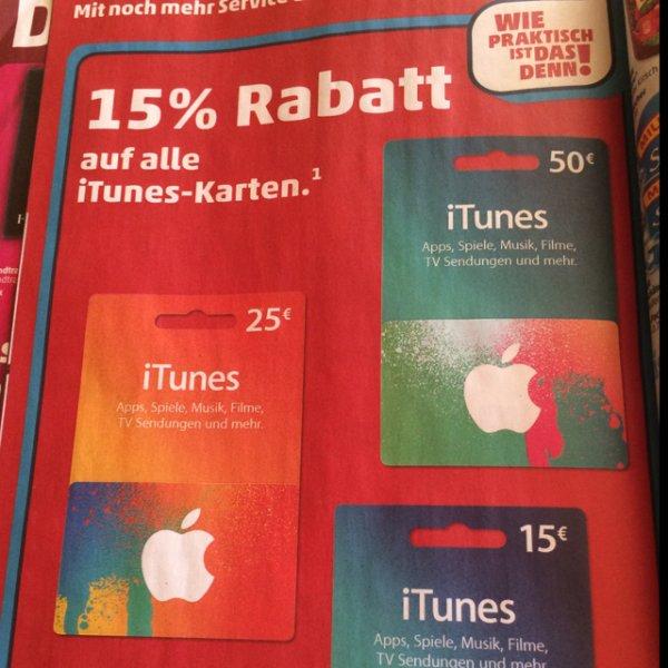 iTunes Karten bei Penny / 15% Rabatt