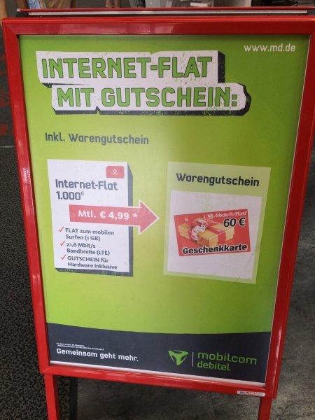 [Bundesweit] Mobilcom Debitel - Internet Flat 1.000 (3G | Vodafone | AP Frei)