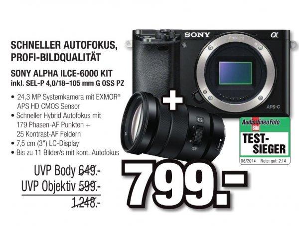 Sony Alpha ILCE-6000 SOFTBUNDLE inkl. SEL-P 4,0 / 18-105 mm G OSS PZ