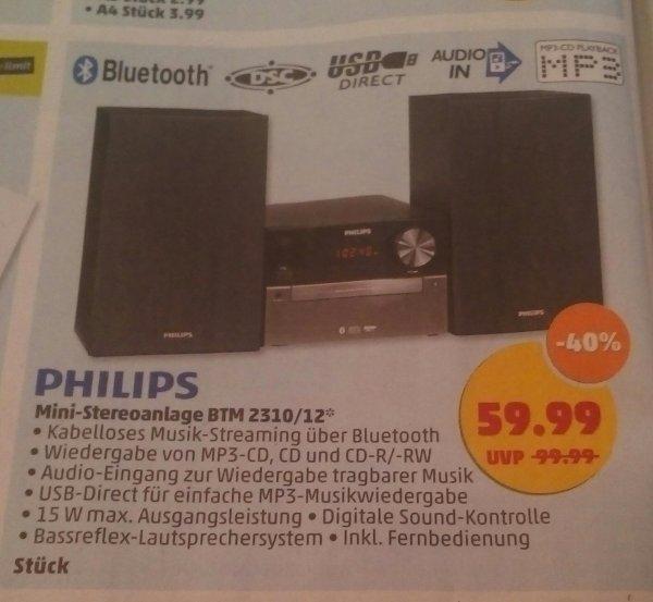 [Penny] Philips Mini-Stereoanlage BTM 2310/12 für 59,99€ ab 18.06.