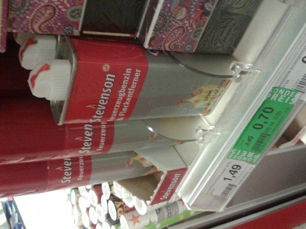 (Rossmann Hagenow lokal? ) Stevenson Feuerzeug benzin mit Green Label