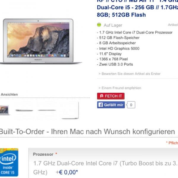 Apple MacBook Air 11 Zoll [2014]