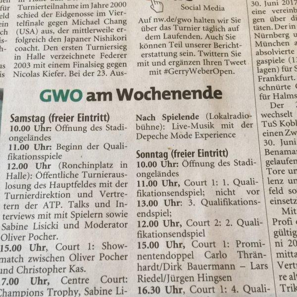 Gerry Weber Open kostenloser Eintritt mit kostenlosen Konzert von Juli