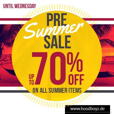 Bis zu 90% Rabatt auf Sommermode bei Hoodboyz.de