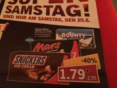 Snickers / Mars oder Bounty Ice Cream bei LIDL
