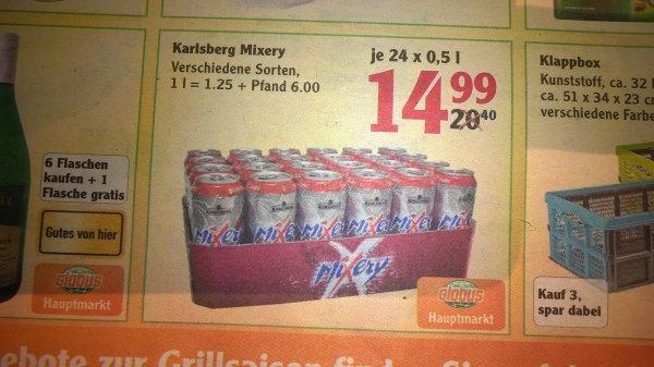 Mixery Dosen 24x0,5 für 14,99 im Globus