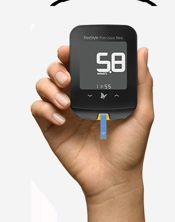 Blutzuckermessgerät Gratis Testen FreeStyle Precision Neo