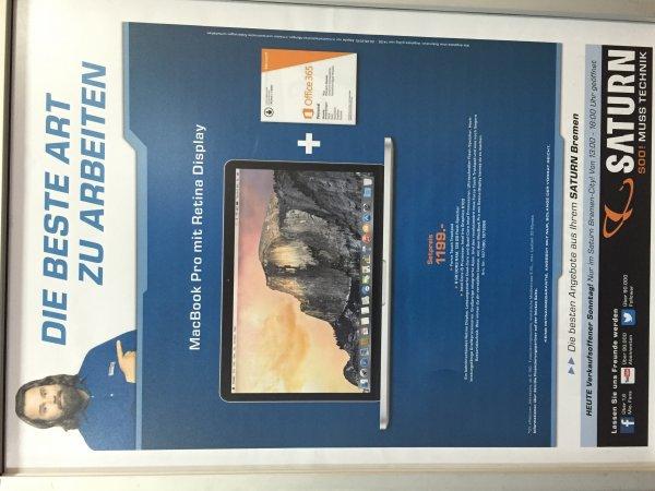 [Saturn Bremen] MacBook Pro Retina inkl office 365