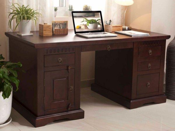 massivum antonio kolonial holz m bel schreibtisch tisch. Black Bedroom Furniture Sets. Home Design Ideas