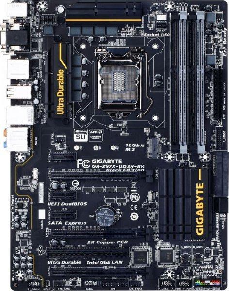 Gigabyte GA-Z97X-UD3H-BK Black Edition - 5 Jahre Garantie, Upgrade-Option (nächste Generation im Tausch kostenlos) - 115,99€ @ getgoods.de
