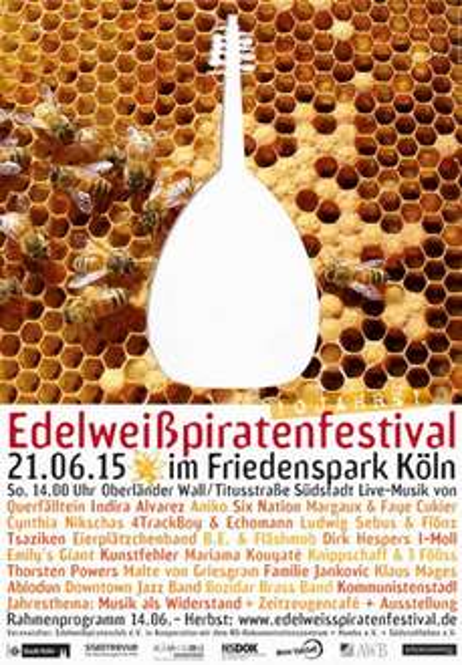 Köln - Südstadt  : Edelweißpiratenfestival im Friedenspark am 21.6.2015 ab 14 Uhr