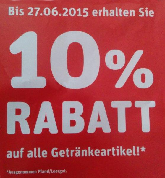 [Lokal] 10% Rabatt im Rewe Getränkemarkt - Fischach bei Augsburg