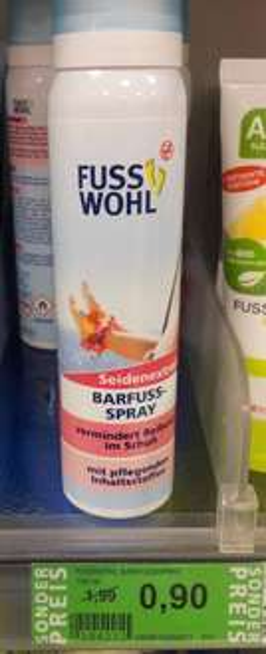 ROSSMANN  Green-Label Produkt  Fusswohl Barfussspray