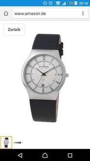 Skagen XL Herrenuhr Analog Quarz Leder