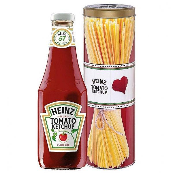 [LIDL] Heinz Tomatenketchup 750ml Glasflasche in Heinz Spaghetti Retro Metalldose für 1,99€