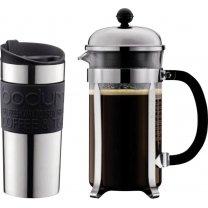 Bodum Kaffeebereiter Chambord Set für 8 Tassen + Travel Mug Becher für 28,24 € @Voelkner