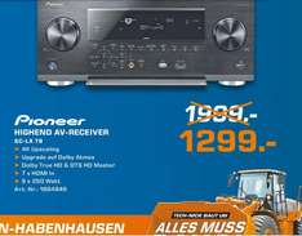 [Lokal] Pioneer SC-LX78 AV-Receiver für 1299€ (idealo 1998) und weitere Schnäppchen! @ Saturn Bremen-Habenhausen