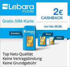 [Qipu] Lebara: Gratis SIM-Karte + 2€ Cashback