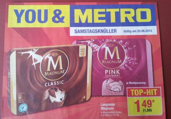 Metro Samstagsknüller Langnese Magnum Eis  nur am 20.06.2015