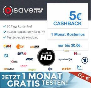 [Qipu] Save.TV jetzt 30 Tage kostenlos testen und 5€ Cashback erhalten