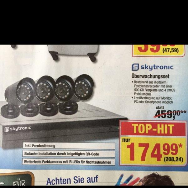 METRO - Skytronic Überwachungsset (4 Kameras + HDD Recorder)