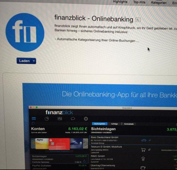 Finanzblick- Onlinebanking [Mac]