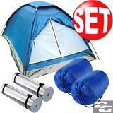 [Festival-Deal] Camping Set für 2 Personen (Zelt + 2 Schlafsäcke + 2 Isomatten) inkl. VSK