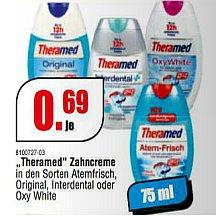 [LINDEN/ROSENHEIM] Schleudermaxx: Theramed 2in1 Atemfrisch/Interdental/Oxy White oder Original 75ml für 0,69€