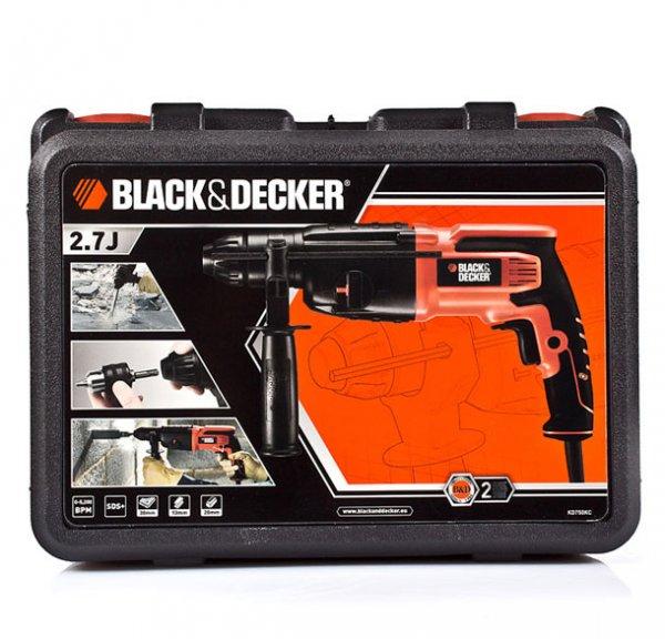 Ebay Black & Decker KD750KC-QS Bohrhammer mit Koffer für 88,- Euro