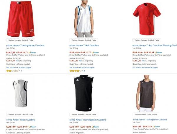 Erima Trikots, Trainingsshirts für Erwachsene und Kinder @ 9,98€ Amazon