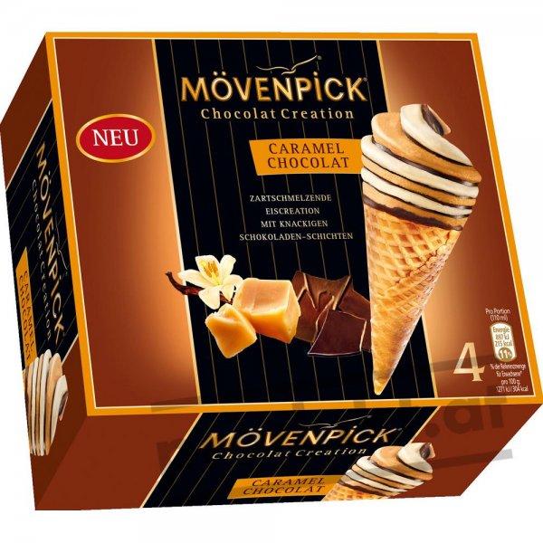 [ZIMMERMANN] KW26 Mövenpick Eis Chocolat Creation (Caramel Chocolat, 4x 110 ml) oder Milka Haselnuss Mini Cones (8x 25 ml) für 1,29 € (Angebot) [Gültig bis 27.06.2015]