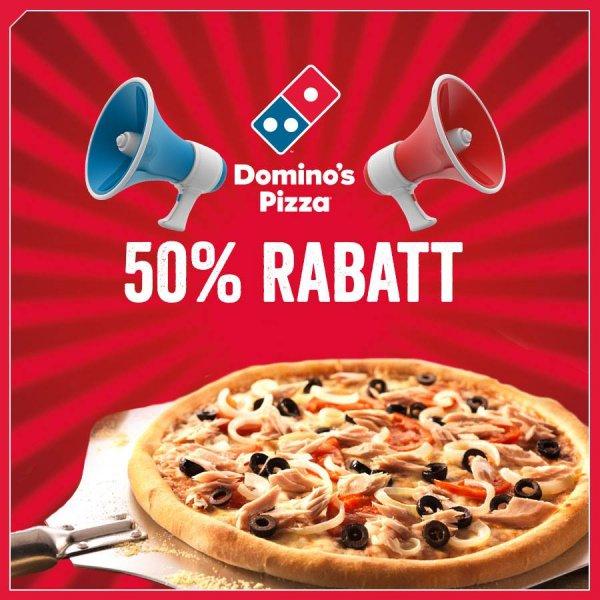 [lokal Wuppertal] Domino's Pizza, 50% Rabatt auf jede Pizza