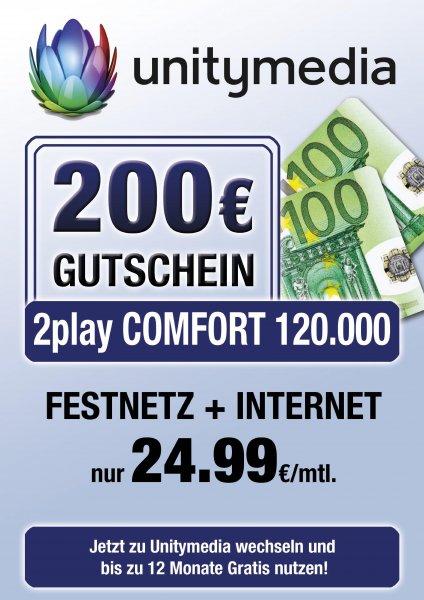 Unitymedia Angebot 200€ Gutschein bei Media Markt Bielefeld