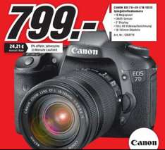 Canon EOS 7D mit EF-S 18-135mm f/3.5-5.6 IS für 799€ (Idealo 999€) @Media Markt Velbert