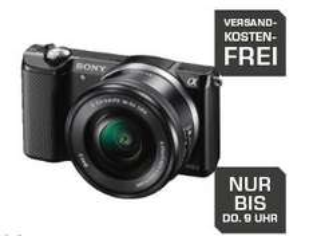 Sony Alpha 5000 Kit 16-50 mm schwarz für 274€ @Saturn.de