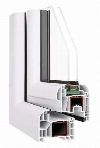 Doppelflügeles Fenster  B 1165 x H 1435 mm Profil OVLO 80 mm 2-fach verglast aus Polen
